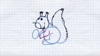 How to draw a squirrel / Как нарисовать белку(Find our application at Google Play. https://play.google.com/store/apps/details?id=mig.artbart.howtodraw Step by step instructions for drawing. Learn how to ..., 2014-07-06T08:26:10.000Z)