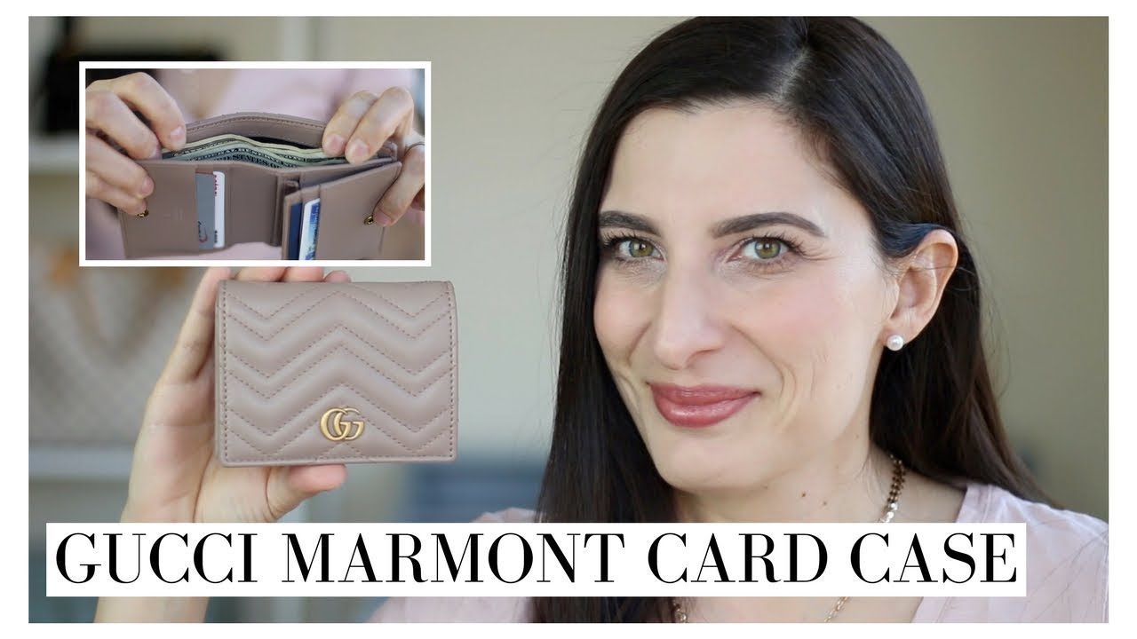 15c771a57b55 GUCCI MARMONT CARD CASE - REVIEW AND WHAT FITS - YouTube