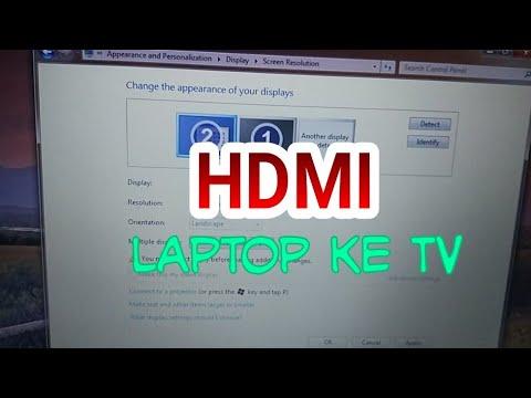 Cara Mengubungkan Laptop Ke TV Dengan Kabel HDMI