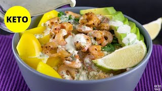 Keto Mexican Shrimp Rice Bowl