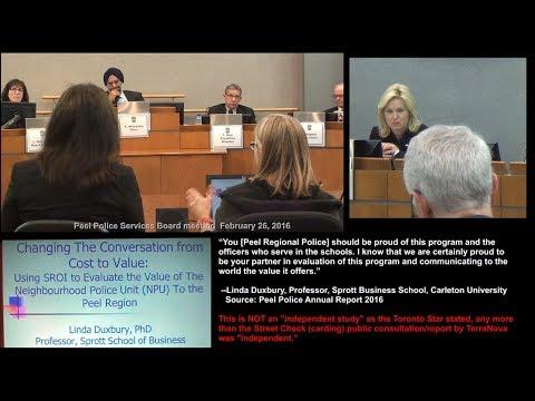 Peel Police/Carleton Business School COPS IN SCHOOLS report --Linda Duxbury report
