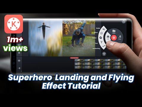 HOW TO MAKE SUPERHERO LANDING AND FLYING EFFECT | KINEMASTER TUTORIAL