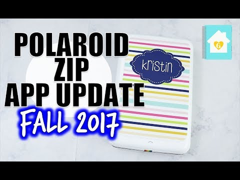 POLAROID ZIP APP UPDATE | HOW TO USE THE APP AND PRINT - YouTube