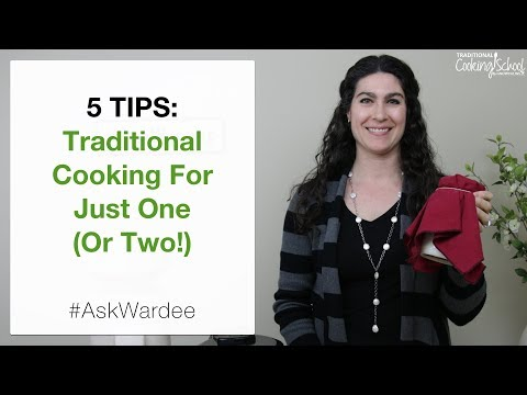 5 Tips — Traditional Cooking For One Or Two   #AskWardee 115