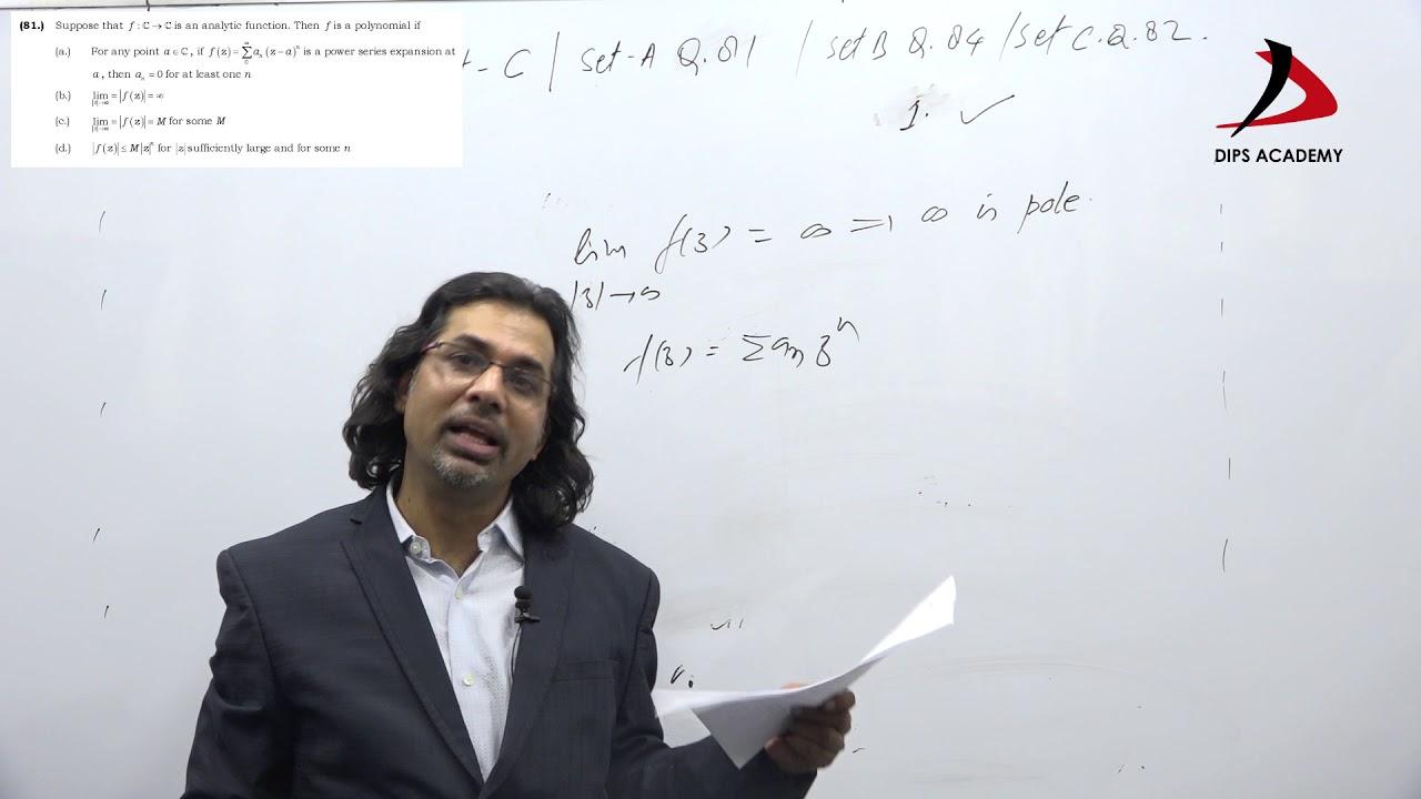 CSIR NET JUNE 2018 Math | Set-A, Part-C Question-81
