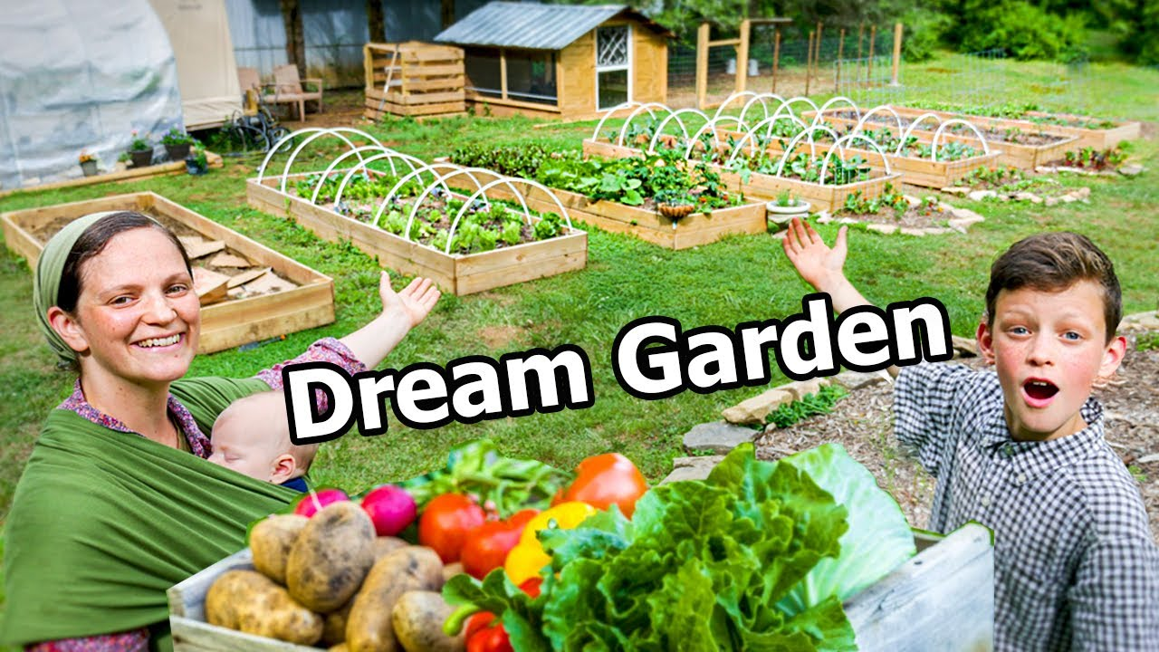 Tour our AMAZING Garden for FAMILY OF 8