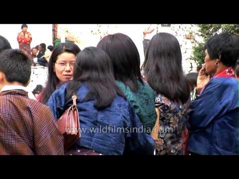 Women of Bhutan at Kurjey festival