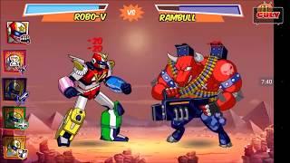 Chơi Run Run Super Five 5 anh em siêu nhân biến hình robot đánh quái  đi cảnh lụm vàng cu lỳ chơi ga