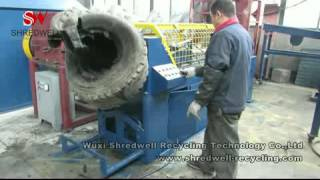 Tire Debeader/Tire Steel Wire Drawing Machine for Waste Tire Recycling