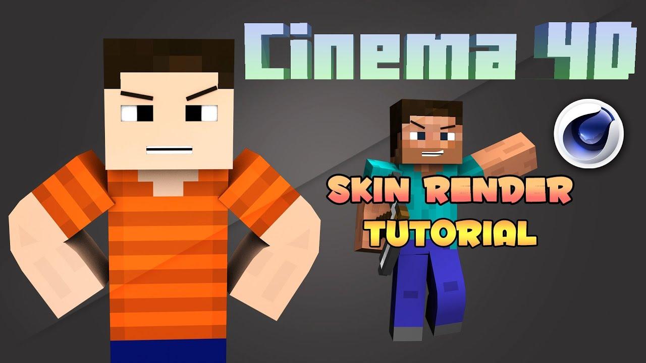 Cinema 4d minecraft skin render tutorial youtube ccuart Images