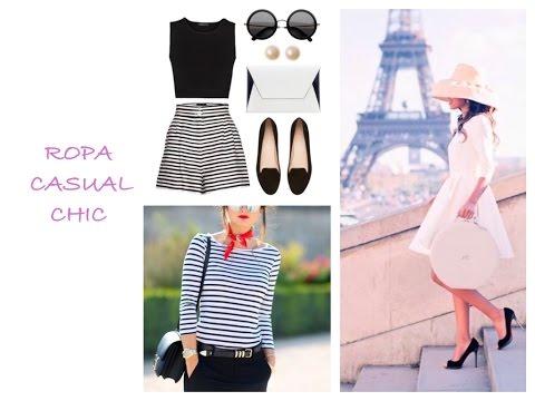 moda de ropa outfit casual y elegante estilo europeo parisian chic look