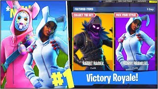 "*NEW* ""RABBIT RAIDER"" & ""BUNNY BRAWLER"" SKINS in Fortnite Battle Royale! (Fortnite EASTER UPDATE)"
