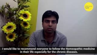 Dr. Vivek Shukla stopped snoring in 15 days of Homeopathic treatment from Welcome Cure.