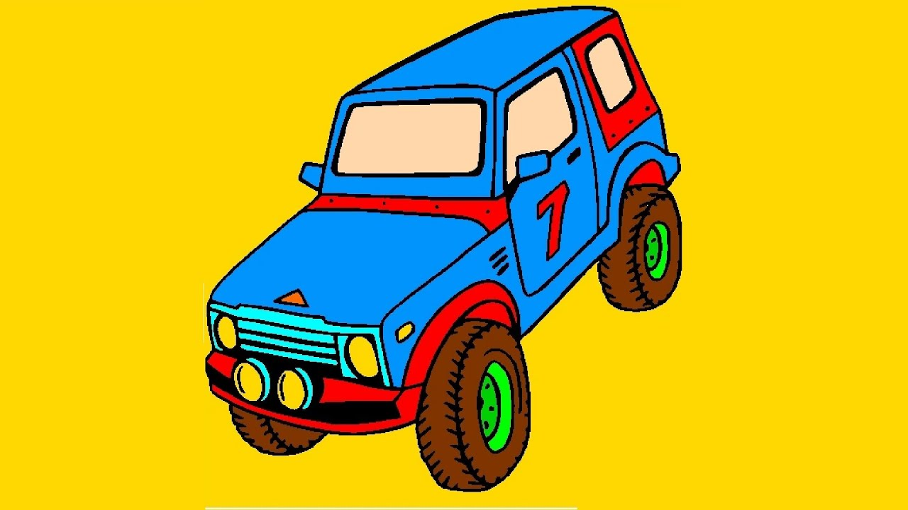4x4 off road car coloring picture for kids 4x4 off road car