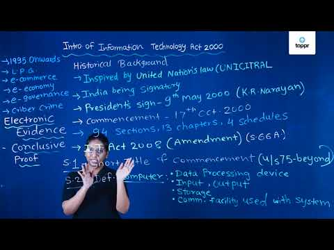 Information Technology Act, 2000: Objectives and Features