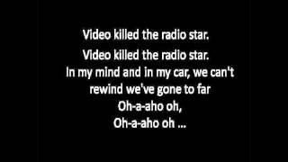 Repeat youtube video Video Killed the Radio Star - Buggles (LYRICS on Screen)