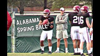 WATCH: Alabama Spring Football Practice