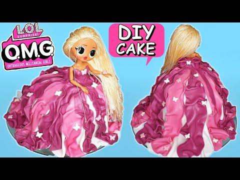 DIY Amazing LOL Surprise OMG Dolls Swag FONDANT CAKE