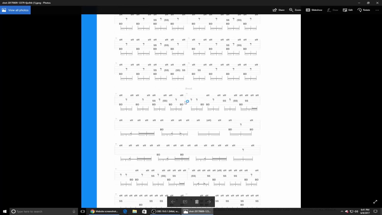 How to print sheet music or tabs from Songsterr for free!
