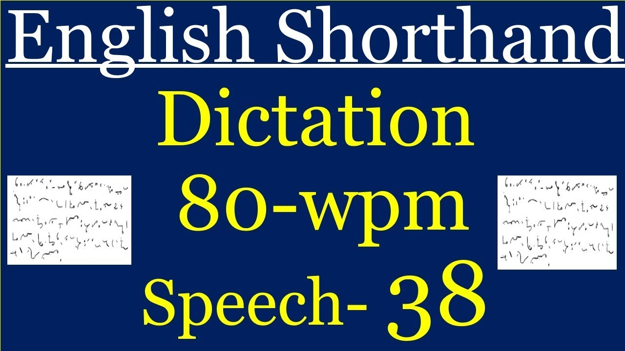 English Shorthand dictation / test at 80 wpm for 840 words  SSC-Stenographer-C&D, Railways ect