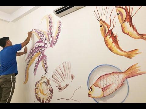 Vẽ Tranh Tường tại TPHCM – Tranh Tường 3d cho nhà hàng quán ăn
