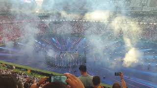 UEFA Champions League Opening Ceremony and Players Walking Out