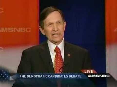 Dennis Kucinich at Presidential Debate in South Carolina