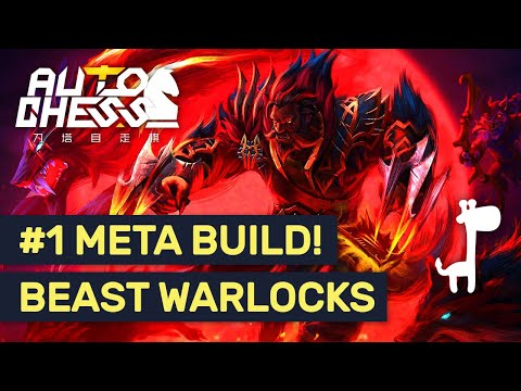 #1 META BUILD! Dota Auto Chess BEAST WARLOCK WARRIOR! | Positioning Tips!