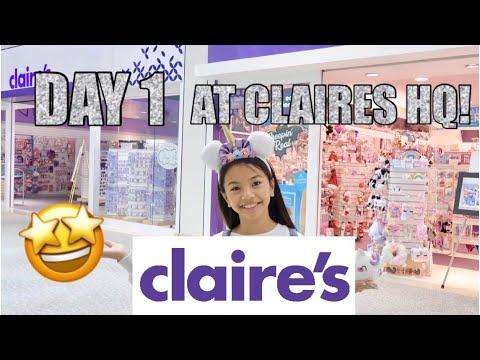 FUN at CLAIRE'S HQ!!!
