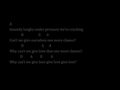 Under Pressure by Queen & David Bowie - Lyrics & Chords