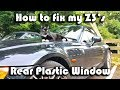 How to repair by sewing your BMW Z3's rear plastic window to the soft fabric