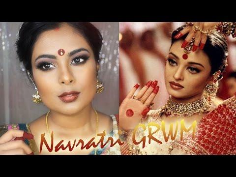 by ethnico-Chatty n GRWM   Navratri / Durga Puja Festive Makeup   Aishwarya Rai (Devdas) Bengali Bridal