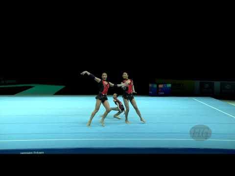 China (CHN) - 2018 Acrobatic Worlds, Antwerpen (BEL) - Dynamic  Women's Group