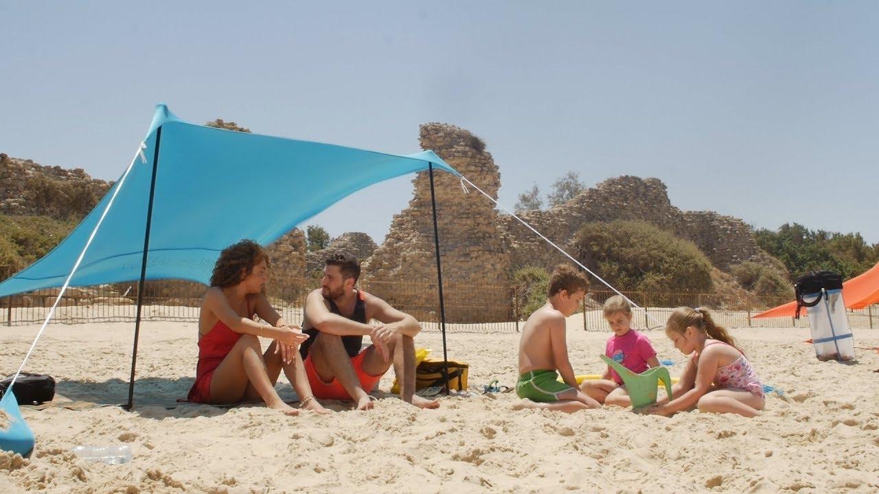 Hysummer Beach Tent With Sandbag Anchors