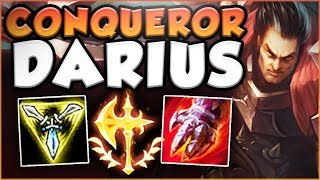 HAS RIOT FINALLY DONE IT? NEW CONQUEROR DARIUS MAKES TOP GREAT AGAIN! DARIUS TOP! League of Legends thumbnail