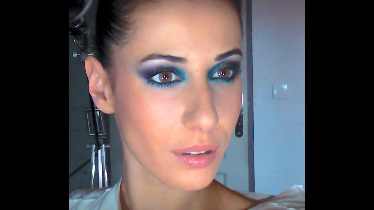 makeup d grad de bleu pour les yeux youtube. Black Bedroom Furniture Sets. Home Design Ideas