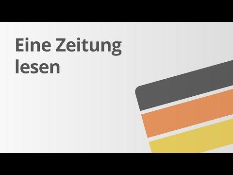 Das Lesen einer Zeitung | Deutsch | Lesen und mit Literatur umgehen