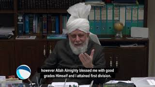 Profession which Huzoor wanted to pursue