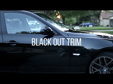 How To Black Out Your Window Trim For $10