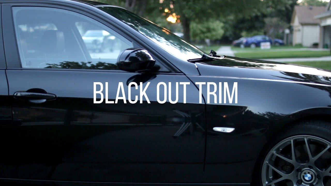 How To Black Out Your Window Trim For 10 Youtube