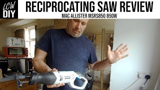 Cheap Reciprocating Saw Mac Allister Unboxing/Review - DIY Vlog #24