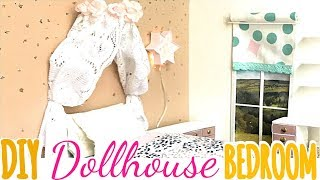 DIY: girly dollhouse bedroom (bed/ desk/ dresser/etc)