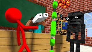 Monster School  AVM SHORTS   ST CKMAN CHALLENGE And Epic BOTTLE FL P CHALLENGE   Minecraft Animation