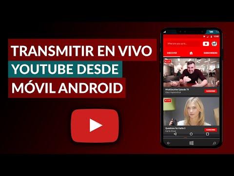 Cómo TRANSMITIR en VIVO por YouTube desde Celular Android