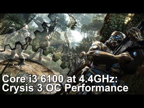 Crysis 3: Core i3 6100 4.4GHz BCLK Overclock: Stock vs OC vs i7 6700K