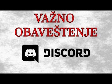 Važno obaveštenje - Discord