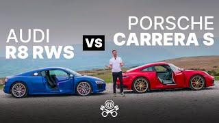 Porsche 911 Carrera S (992) vs Audi R8 RWS   PistonHeads