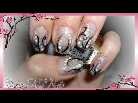 Simple Formal Swirls Prom Wedding Nail Art Youtube