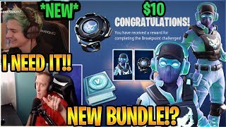 "Streamers USING the *NEW* ""Breakpoint Challange Pack"" SKIN in Fortnite (Breakpoint Bundle)"