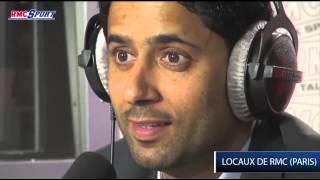 Exclusivité RMC Sport / Dans les coulisses de l'interview de Nasser Al-Khelaïfi - 03/04